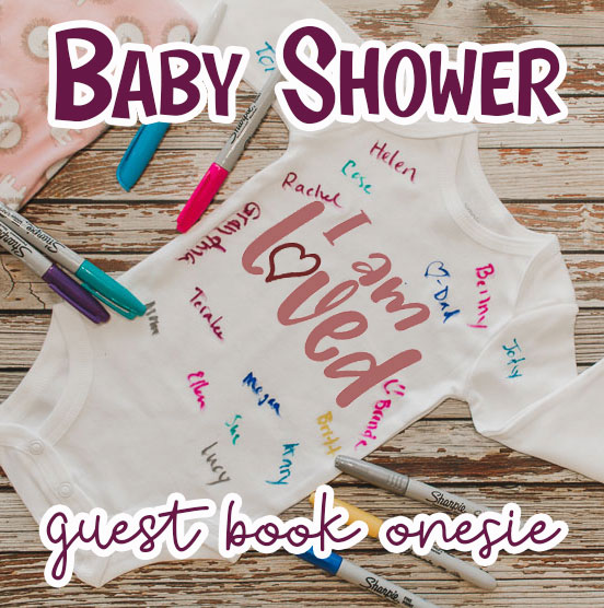 baby shower guest book onesie