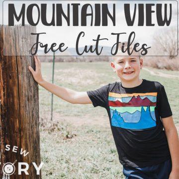 mountain view free cut files