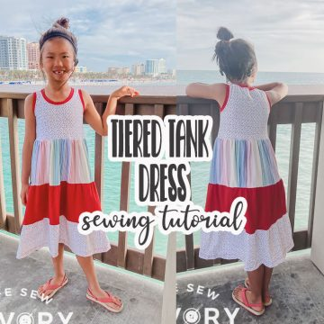 tiered tank dress sewing tutorial and free tank pattern