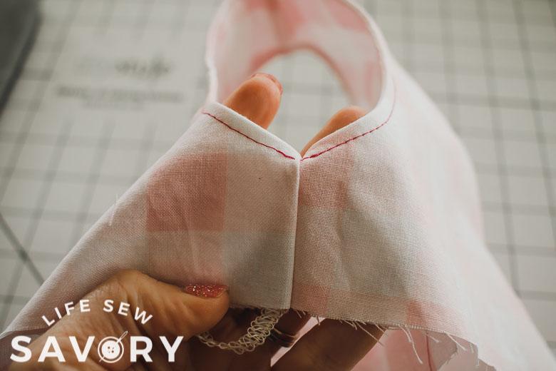 sew side seams enclosed