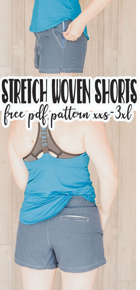 athletic shorts free sewing pattern for women