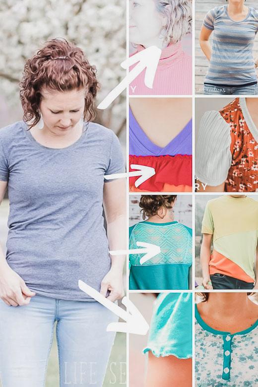 tshirt sewing hacks and tutorials