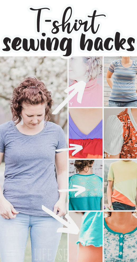 My basic tshirt pattern plus LOADS of tshirt sewing hacks and tutorials to add some fun details to your next tshirt sewing project. Sew fun shirts for the whole family.