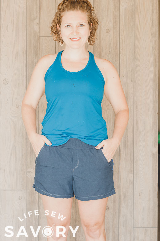 womens athletic shorts free sewing pattern