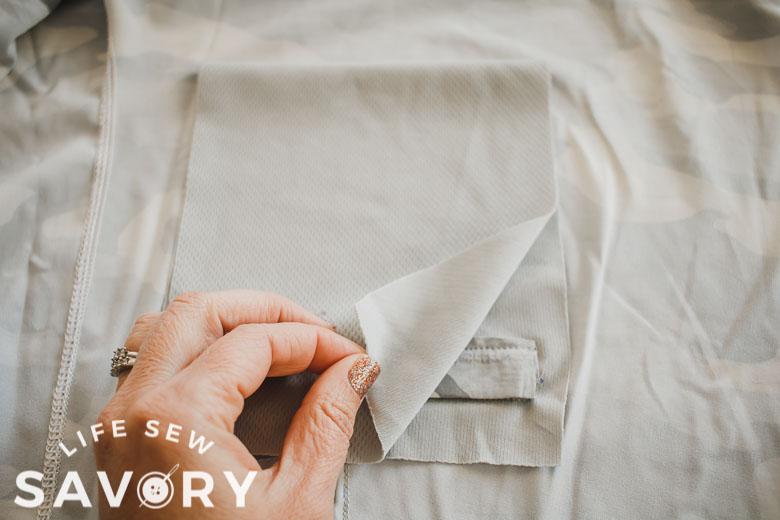 fold back pocket
