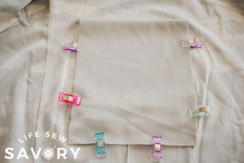 sew around pocket edge