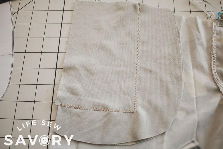 stitch small pocket