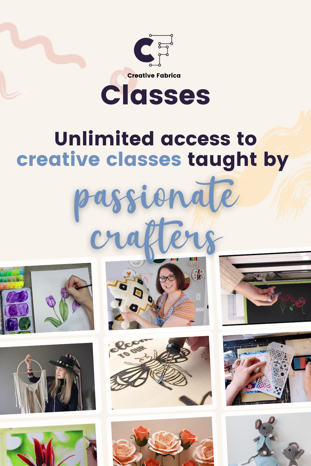 Get all the details on the amazing new craft and sewing classes from Creative Fabrica. So many amazing techniques to learn at one low monthly price, or subscribe to classes and content for a great deal.
