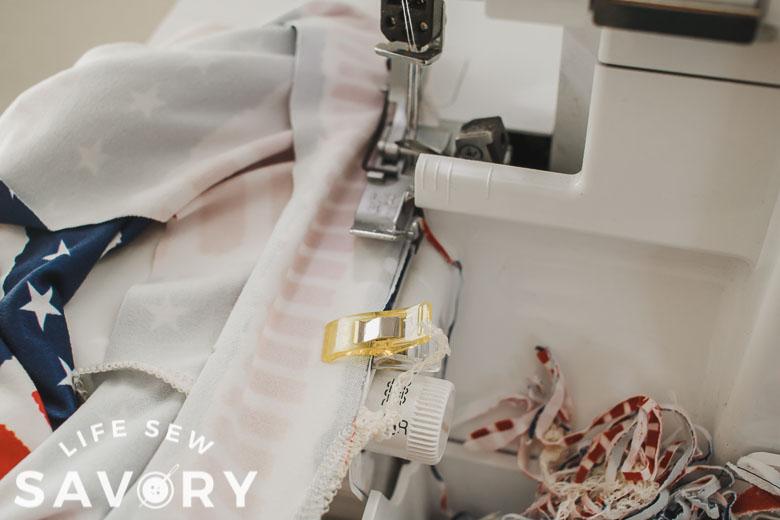 sew binding to neckline