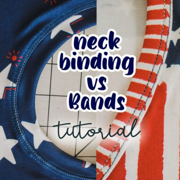 neck binding vs bands ways to finish a tshirt neckline