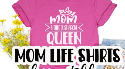 mom just above queen free cut file