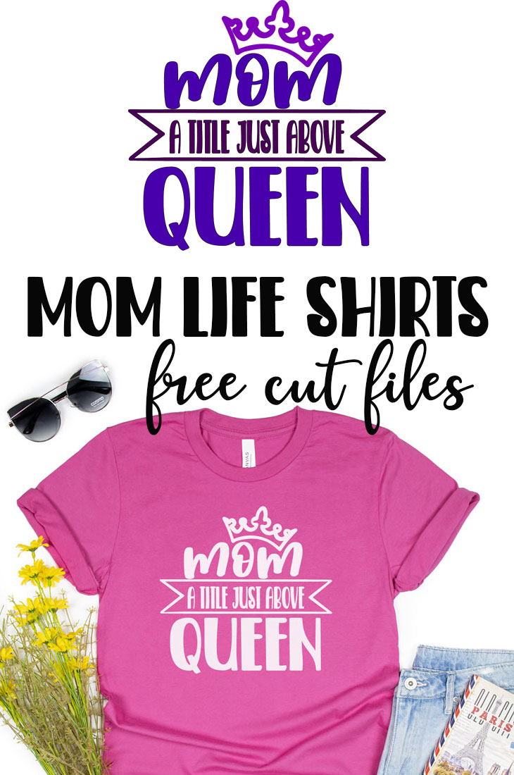 check out these fun mom life shirt cut file ideas. So many fun ideas for making a mom shirt all for free. Create a cute mom life themed shirt with any one of these free cut files.