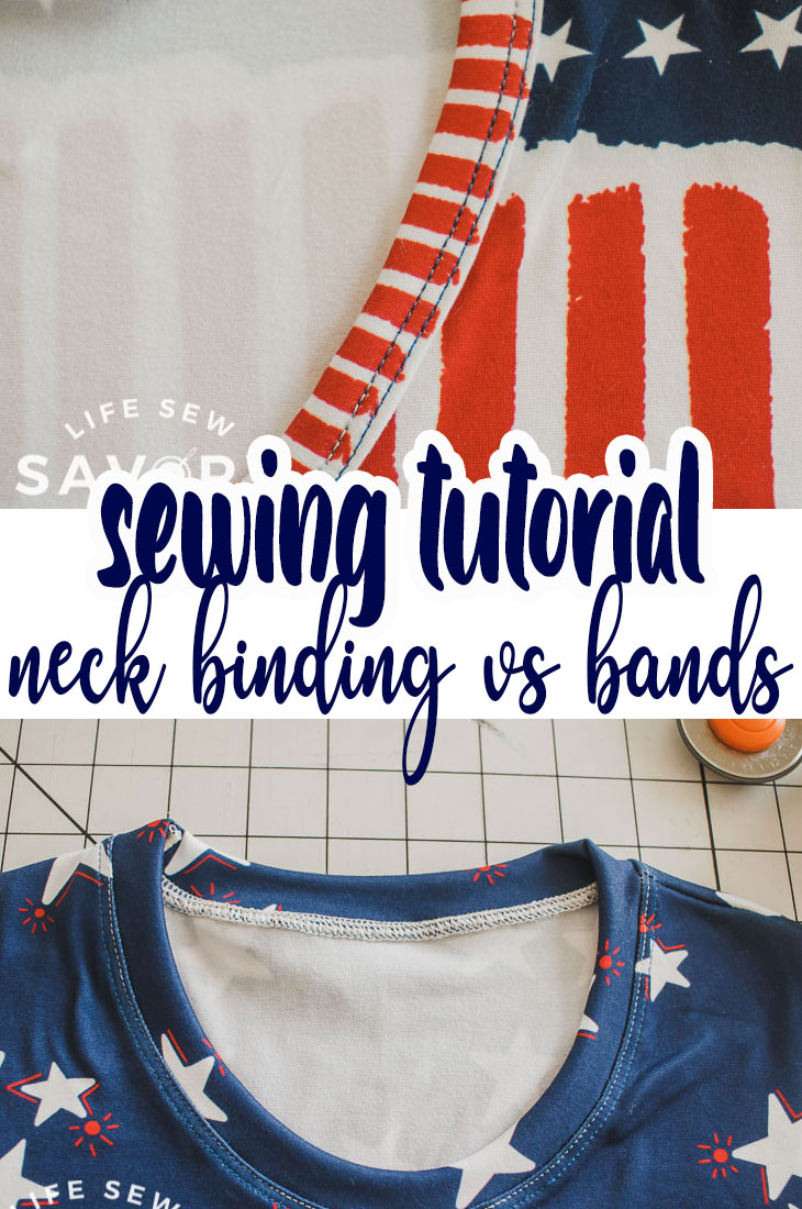 Learn how to sew a neckline. There are two main ways to finish a neckline, binding and bands. Find which way works best for you with this sewing tutorial.