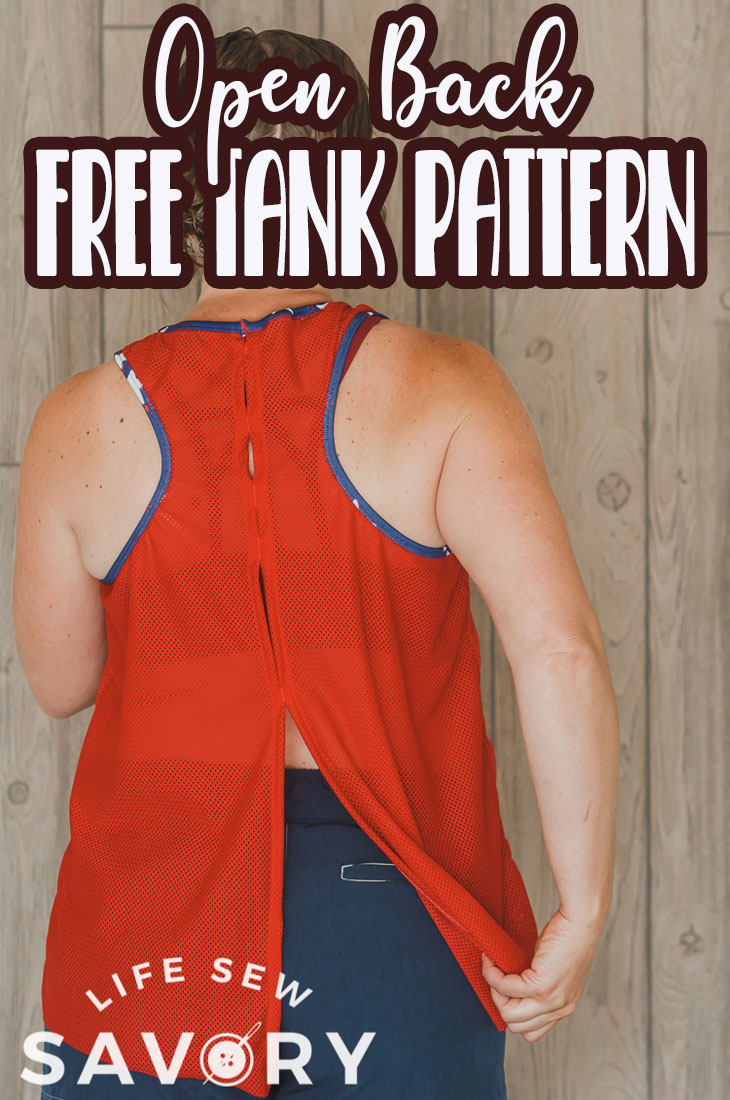 Sew this sports tank free sewing pattern to create comfortable sports wear for summer. A sports tank with adjustable open back features. Sew this beautiful tank top with mesh or other sports fabric.