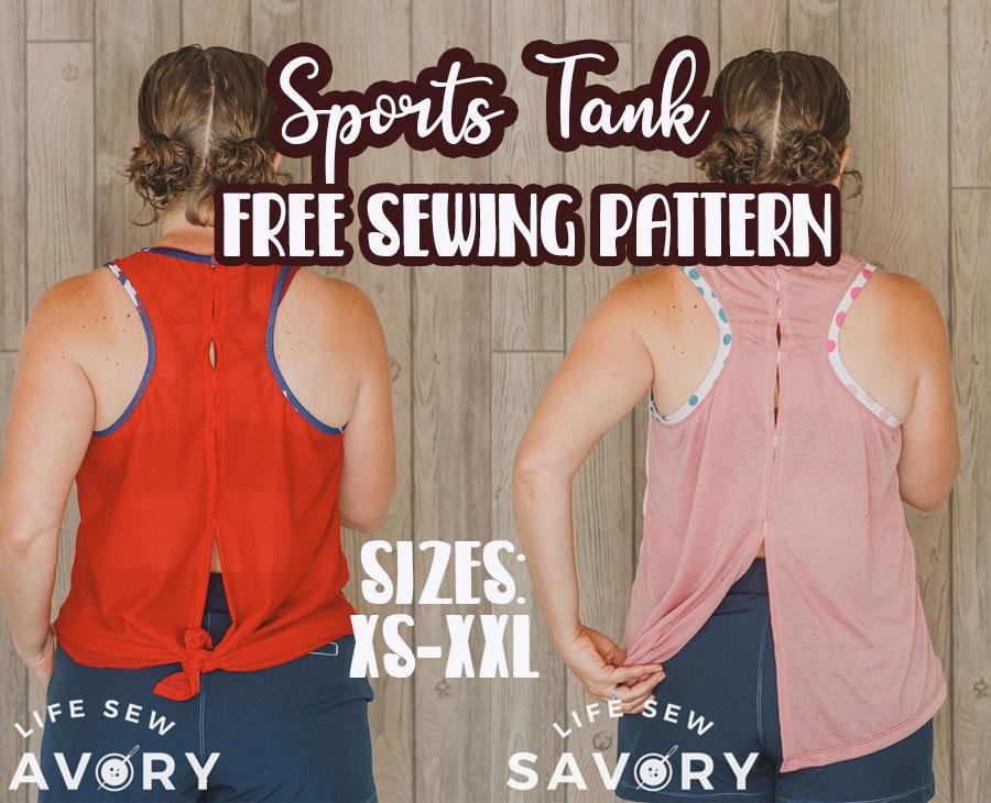 open tie back tank free pdf sewing pattern
