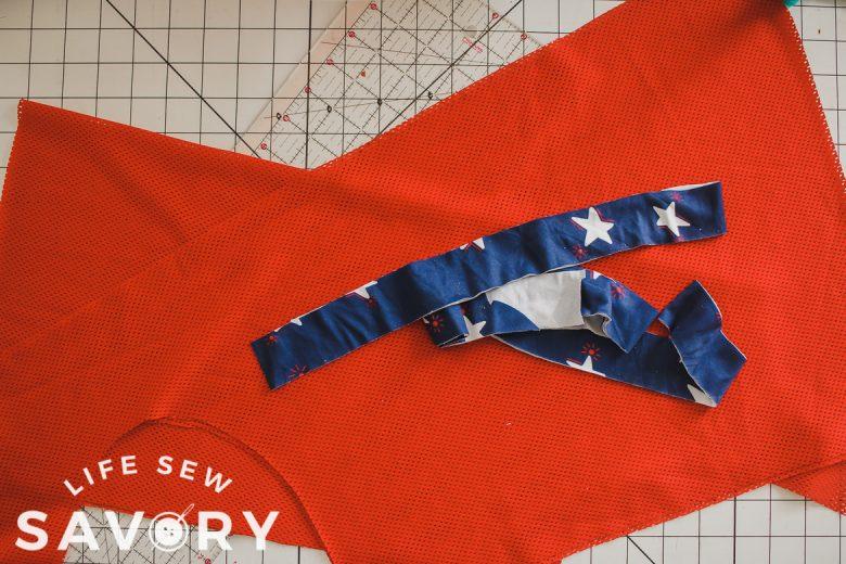 sports tank free sewing pattern sports tank fabric cut out