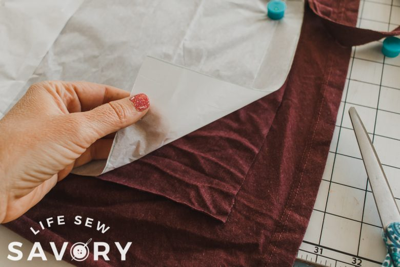 cut only one layer of the fabric