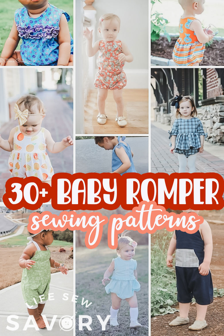 A huge list of baby romper sewing patterns to make. Sew rompers of all styles with these amazing pdf sewing patterns. More romper patterns than you could ever sew, choose your favorites!