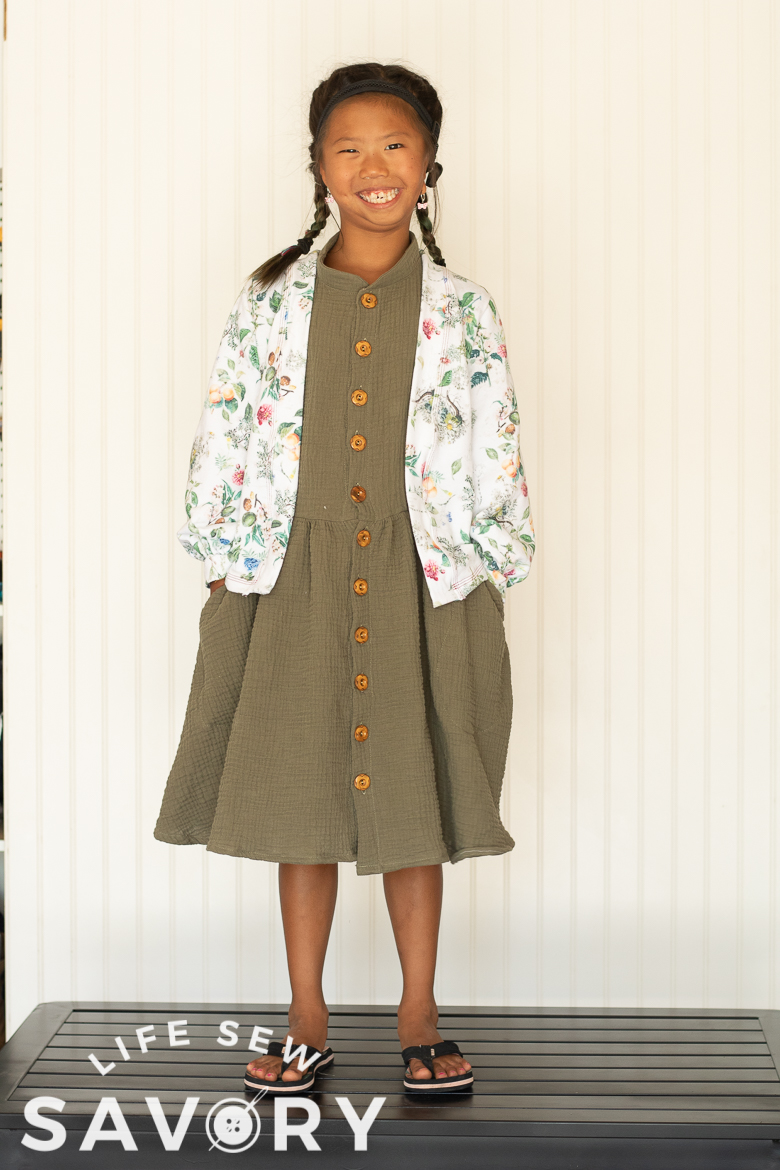 dress and cardigan for back to school
