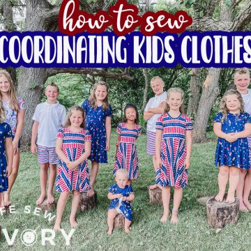 sewing coordinating kids clothes