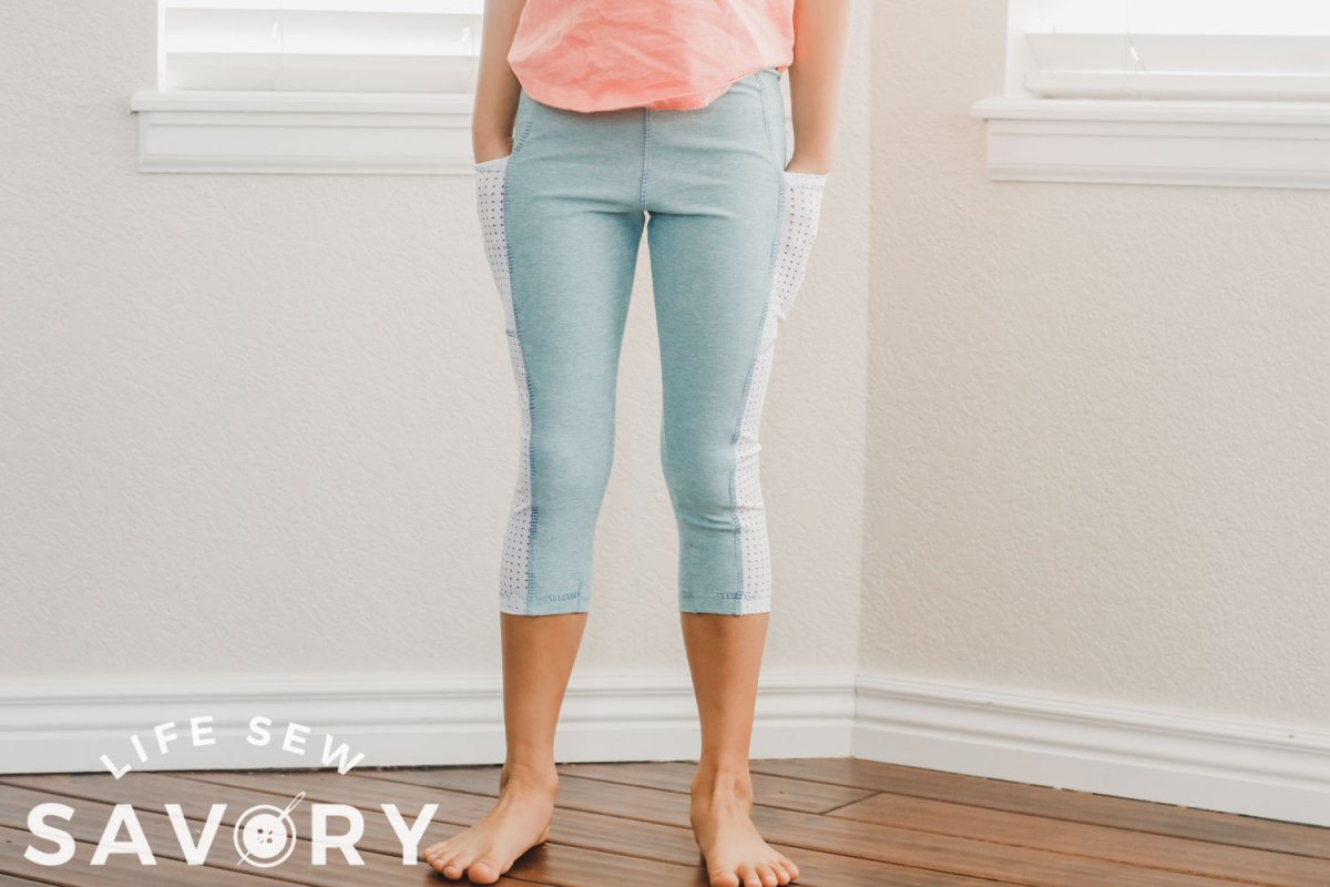 how to add a side pocket to leggings