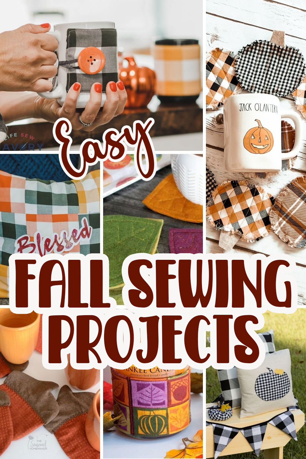 15 beautiful fall sewing projects for beginners you have to try. Each one of these easy fall sewing projects is a piece of beautiful home decor. Sewing for fall has never been so fun.