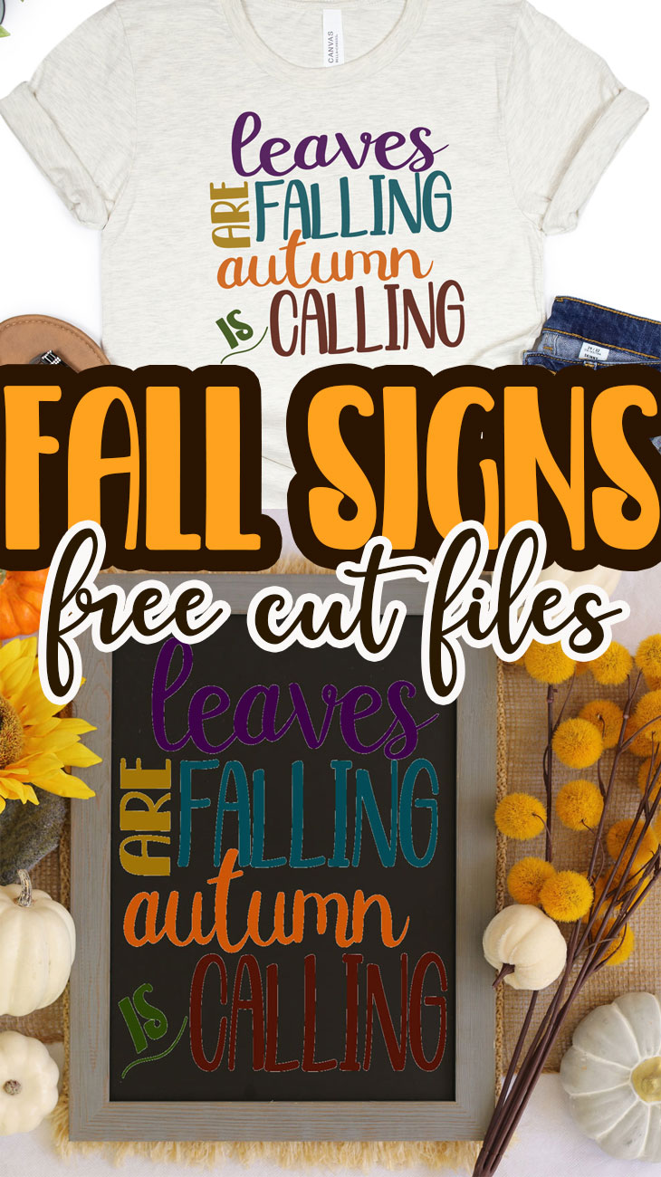 Check out this fun list of fall signs with free svg files. These free cute files for fall are perfect for sign making and other fall crafting.