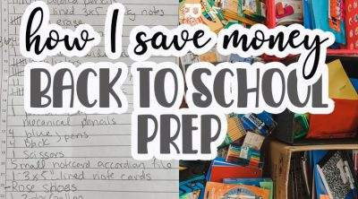 how I save money for back to school
