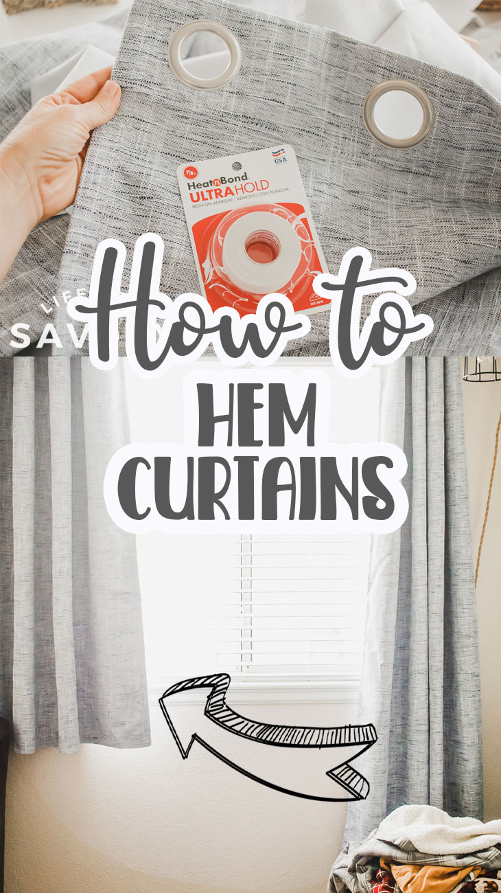 Learn how to hem curtains, both hemming without sewing and hemming with a sewing machine. Shorten curtains to fit your room like a pro with either method in this tutorial.