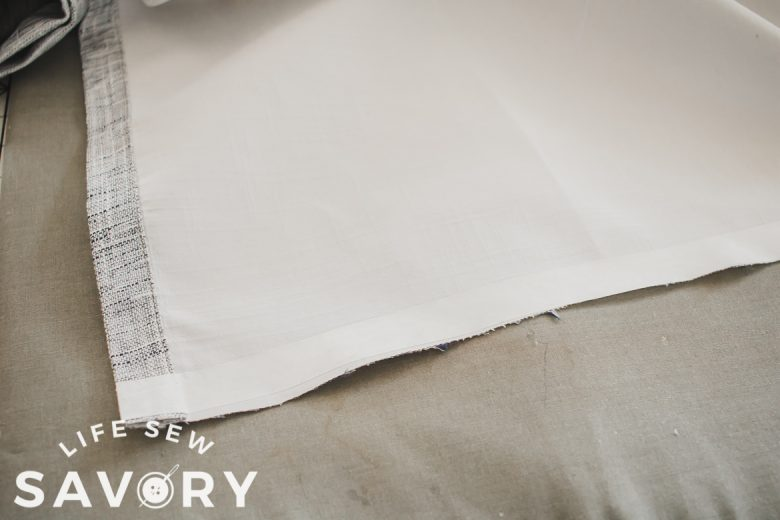 hemming tape to shorten curtains