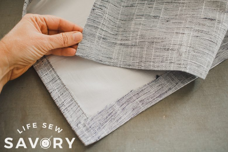 hemming a curtain without sewing