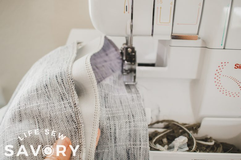 using a sewing machine to hem curtains