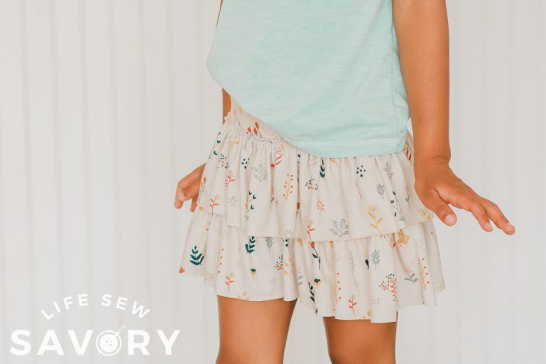 skirt with layers and shorts