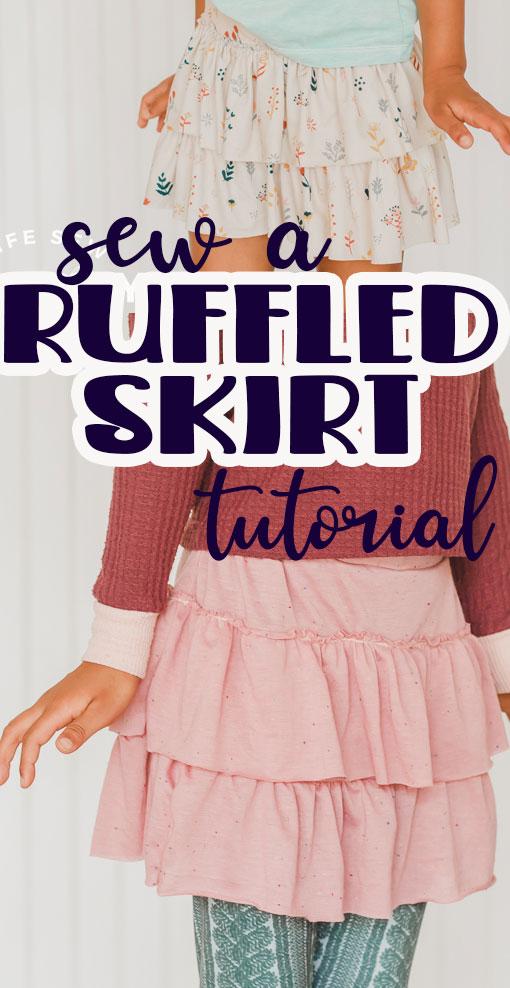 sew a layered ruffled skirt