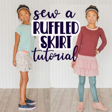 how to sew a ruffled skirt