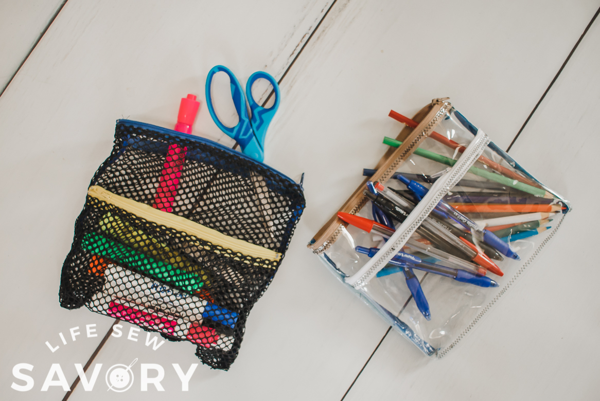 mesh and vinyl pencil case sewing tutorial