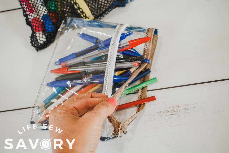 clear vinyl pencil bag