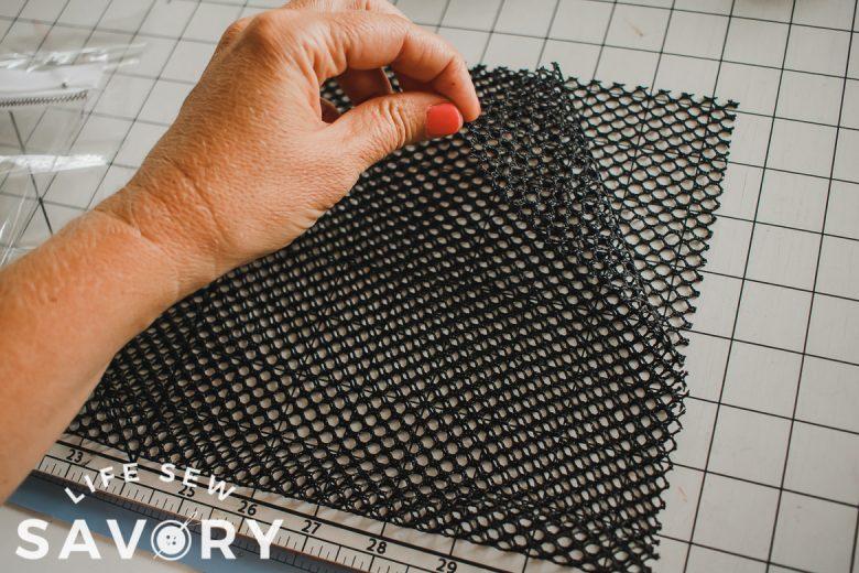 lay pocket on main fabric