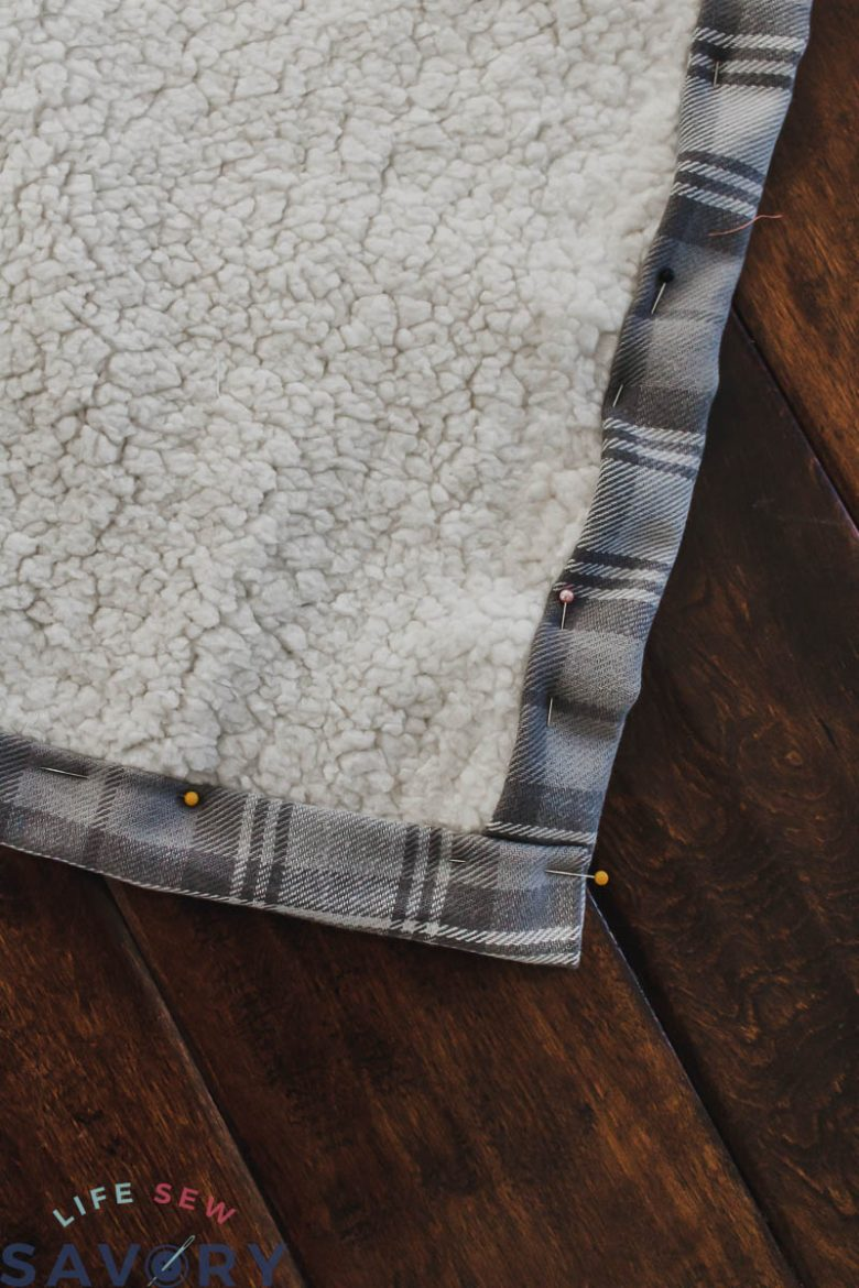 blanket binding made from the flannel