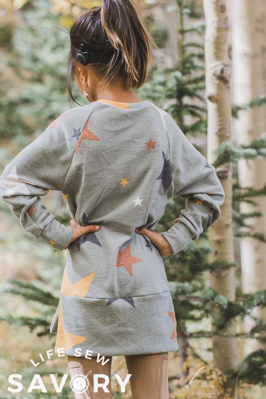 back of raglan sweatshirt