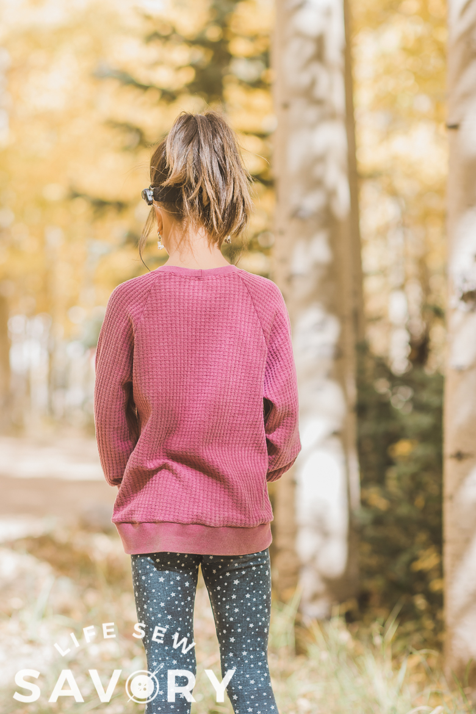 loose fit sweatshirt sewing hack