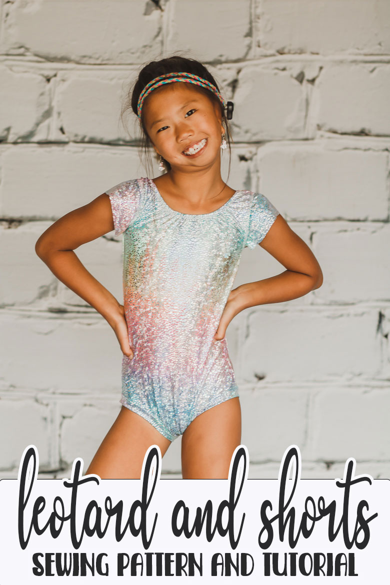 Learn how to sew a simple leotard by turning a swimsuit pattern into a leotard. Sewing hack to create a simple leotard from a swim suit pattern. Sewing for kids to create athletic wear.