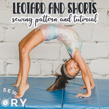 simple leotard sewing pattern and tutorial from a swim suit