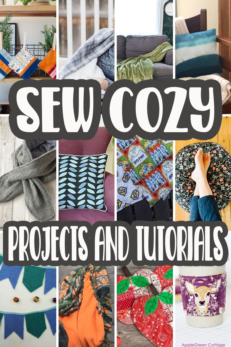 Learn how to sew a sherpa and flannel blanket with this sewing tutorial. Simple sewing with cozy results and a beautiful blanket. Get cozy this fall with a cozy blanket.