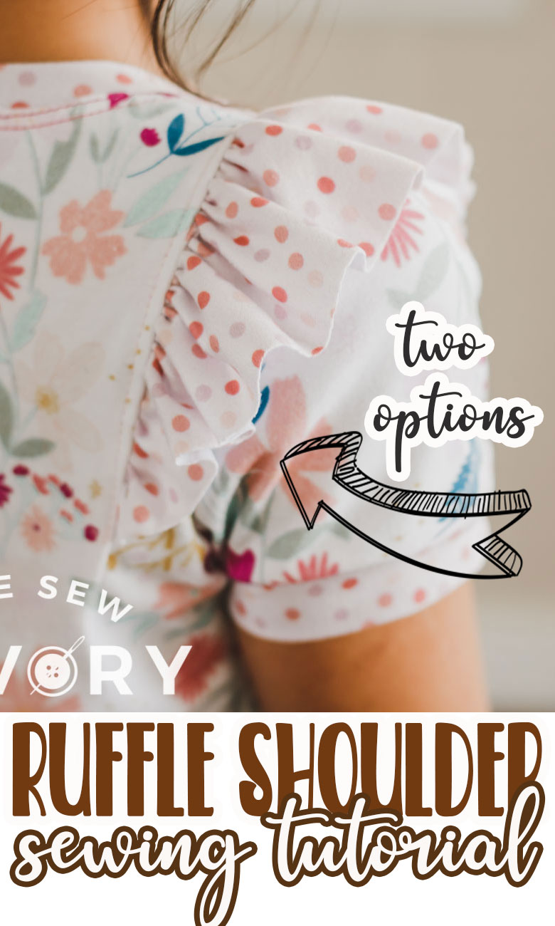 Learn how to add ruffles to a shoulder two different ways. This sewing tutorial will show you how to sew shoulder ruffles with two methods. Add beautiful ruffles to your clothes with this tutorial.