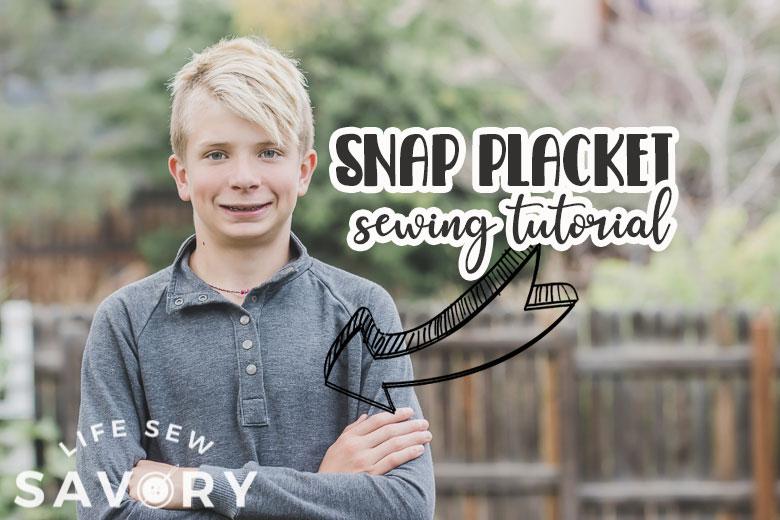 snap placket sewing tutorial