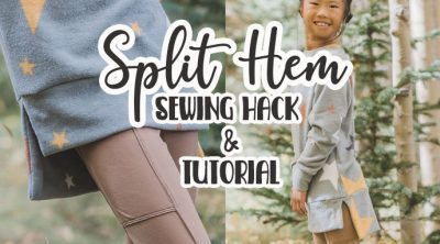 split hem sewing tutorial and hack