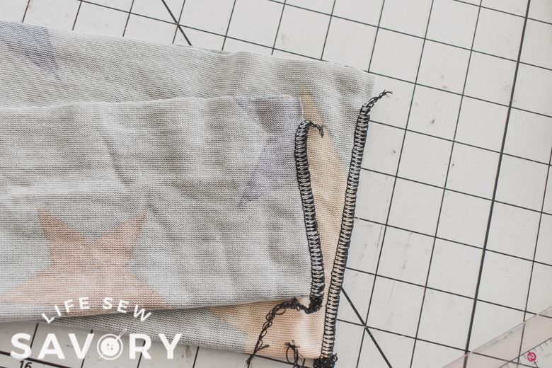 sew short sides