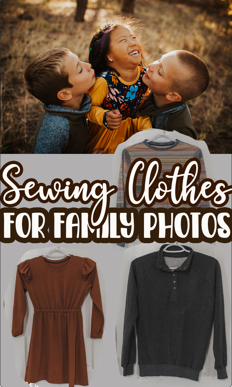 Several clothing and style tips for family photos. Sewing patterns, fabrics and tips for curating beautitul clothes for family photos.