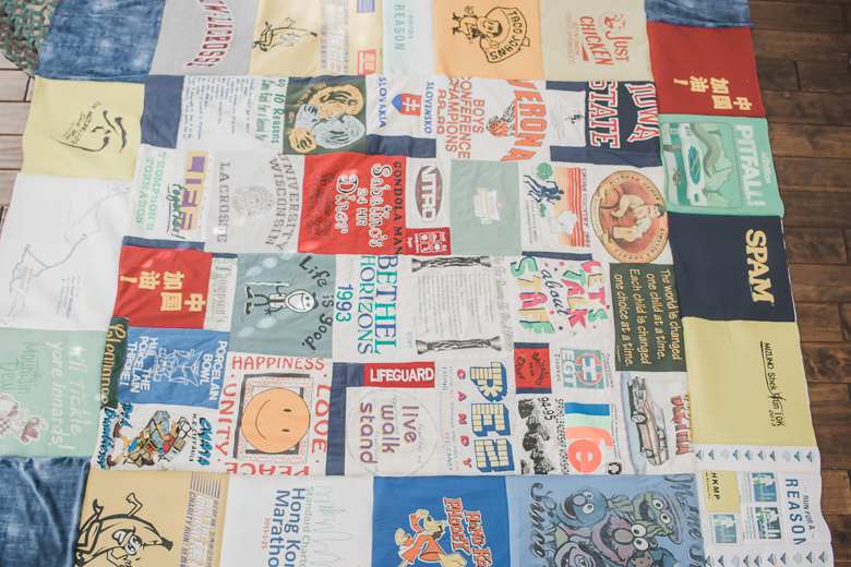 finished t-shirt quilt top